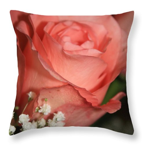 Card Throw Pillow featuring the photograph Wishing You Happiness Card by Carol Groenen