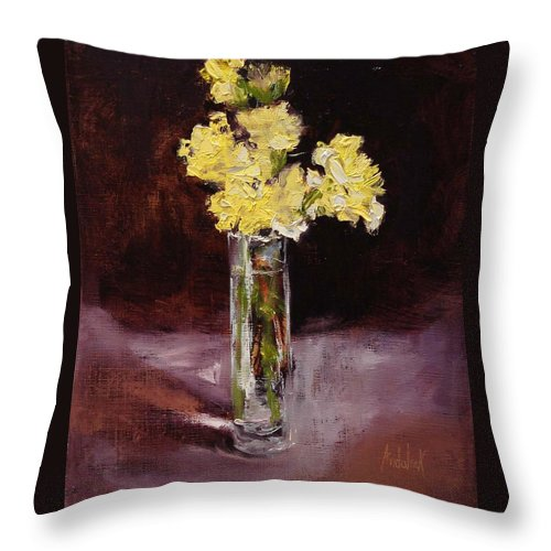 Floral Throw Pillow featuring the painting With Love by Barbara Andolsek