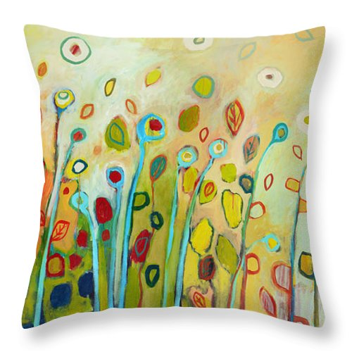 Floral Throw Pillow featuring the painting Within by Jennifer Lommers