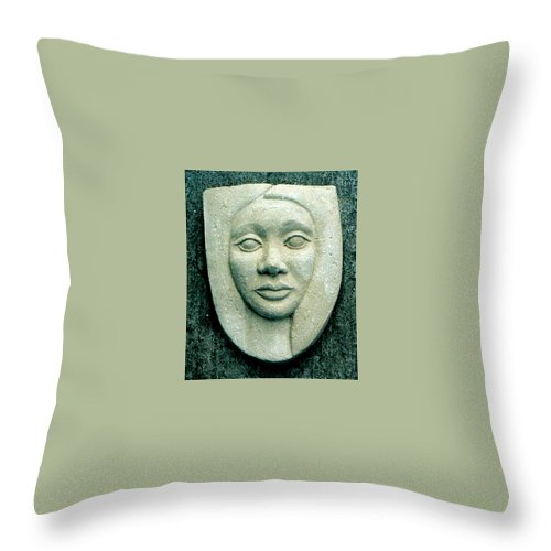 Relief Throw Pillow featuring the relief Without Veils by Madalena Lobao-Tello