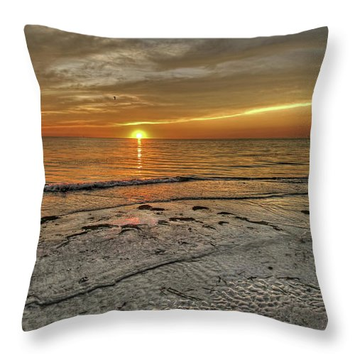 Clouds Throw Pillow featuring the photograph Witness - Florida Sunset by HH Photography of Florida