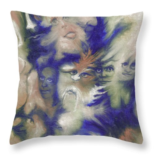 Mystical Throw Pillow featuring the painting Wizard's Dream by Stephanie H Johnson