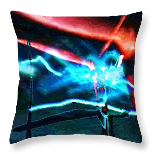 Art Digital Art Throw Pillow featuring the digital art wmill - Forces by Alex Porter