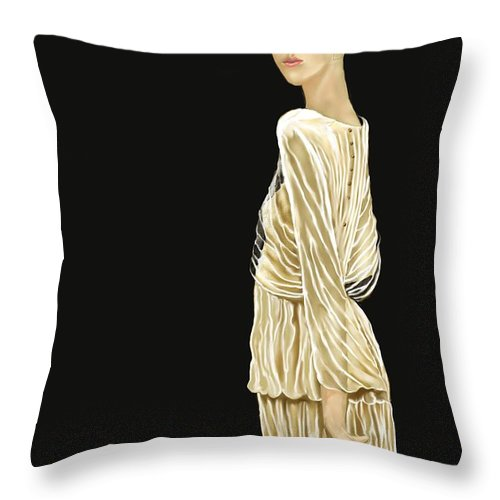 Woman Throw Pillow featuring the digital art Woman 36 by Kerry Beverly
