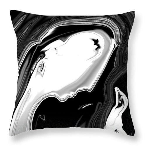 Art Throw Pillow featuring the digital art Woman And Bird by Rabi Khan
