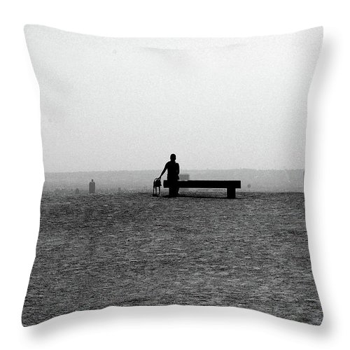 Woman Throw Pillow featuring the photograph Woman's Best Friend by Jera Sky