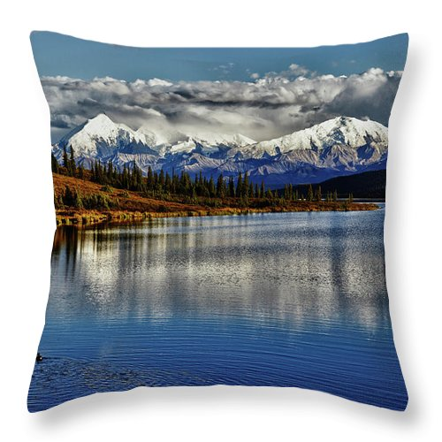 Denali Throw Pillow featuring the photograph Wonder Lake IIi by Rick Berk