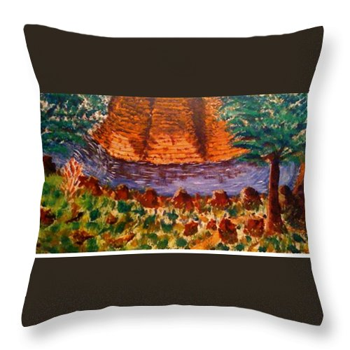 Nature Throw Pillow featuring the painting Wonder by R B