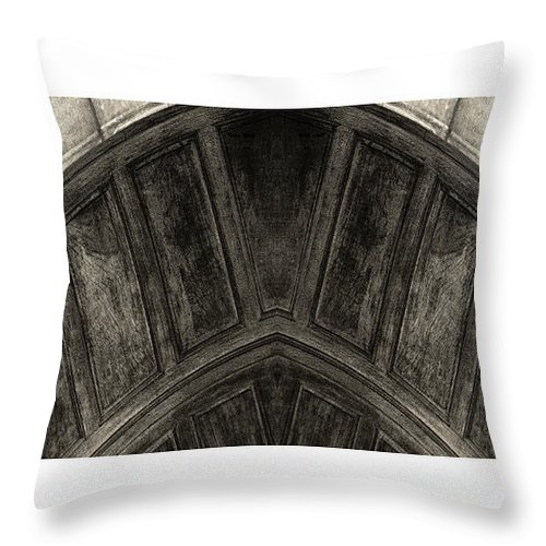 Sepia. Arch Throw Pillow featuring the photograph Wood Stone In Sepia by Tony Grider