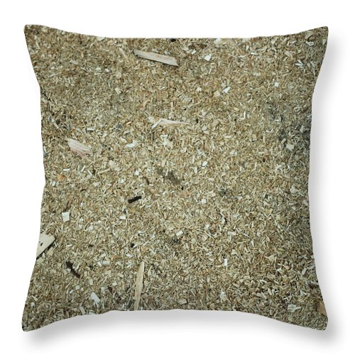 Timber Throw Pillow featuring the photograph Wooden Chips by Igor Zharkov