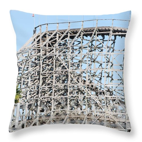 Pop Art Throw Pillow featuring the photograph Wooden Coaster by Rob Hans