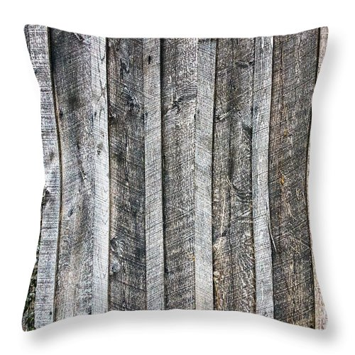 Americana Throw Pillow featuring the photograph Wooden Fence And Ivy by SR Green