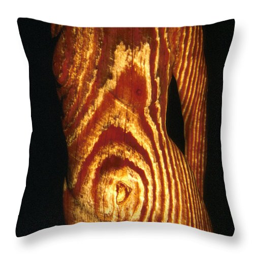 Nature Fusion Throw Pillow featuring the photograph Woodgrain by Arla Patch