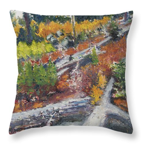 Pacific Northwest Throw Pillow featuring the painting Woodland by Craig Newland