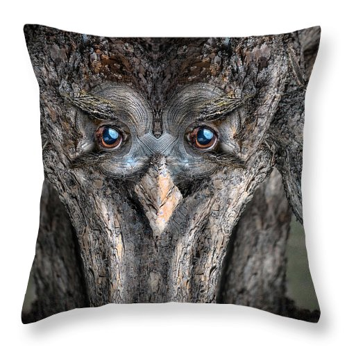 Wood Throw Pillow featuring the digital art Woody 232 by Rick Mosher