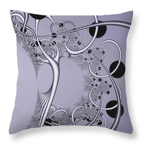 Abstract Throw Pillow featuring the digital art Woogles by Frederic Durville