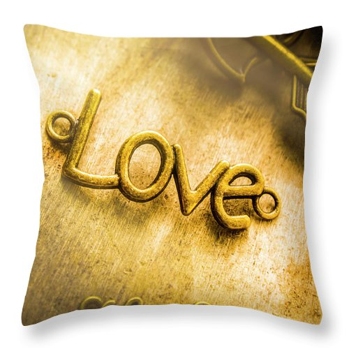 Jewelry Throw Pillow featuring the photograph Words And Letters Of Love by Jorgo Photography - Wall Art Gallery