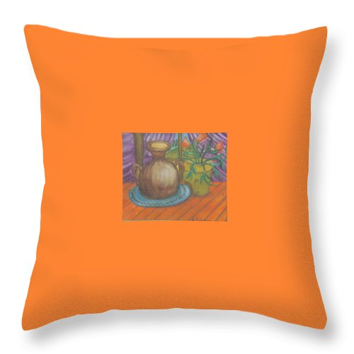 Still Life Throw Pillow featuring the painting Work by Andrew Johnson