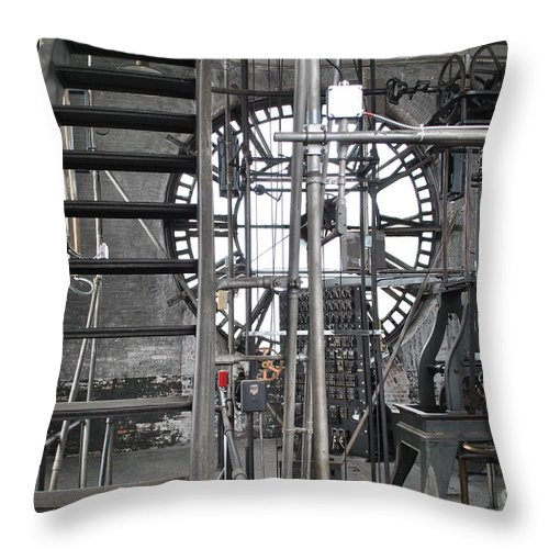 Clock Throw Pillow featuring the photograph Work Time by Jost Houk