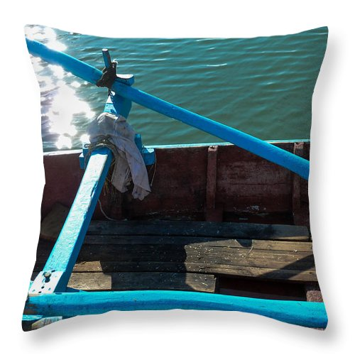 Photography Throw Pillow featuring the photograph Works Of The Journey I12 by Andreas Theologitis