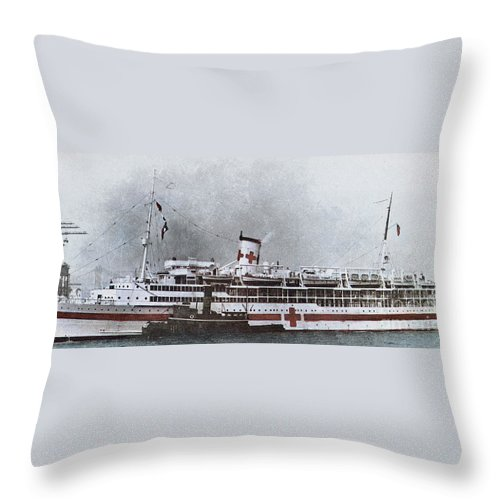 1941 Throw Pillow featuring the photograph World War II: Pearl Harbor by Granger