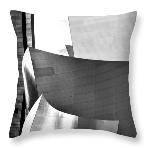 Los Angeles Throw Pillow featuring the photograph Worlds Apart by Az Jackson