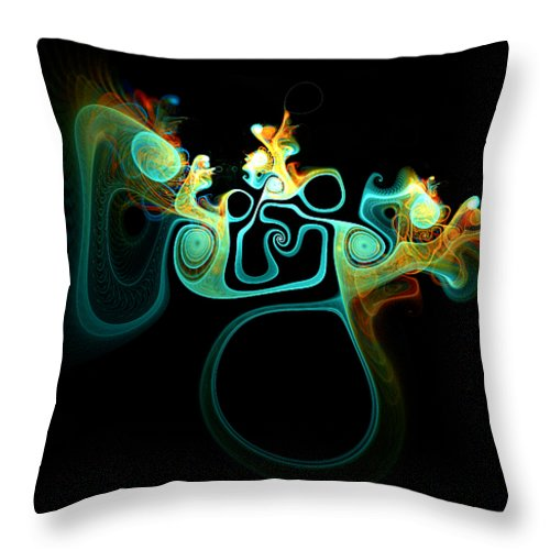 Digital Art Throw Pillow featuring the digital art Wot's Going On In Ear by Amanda Moore