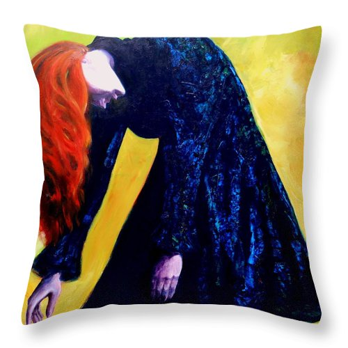 Acrylic Throw Pillow featuring the painting Wound Down by Jason Reinhardt