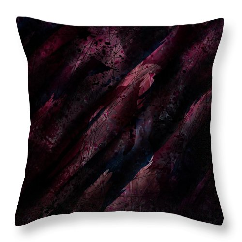 Abstract Throw Pillow featuring the digital art Wounded Lamb by Rachel Christine Nowicki
