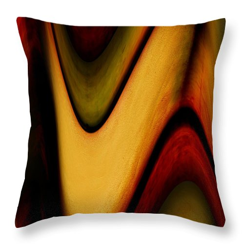 Wrapped Throw Pillow featuring the painting Wrapped by Jill English