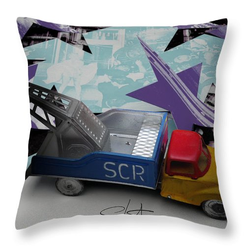 Marilyn Throw Pillow featuring the photograph Wrecking Crew by Charles Stuart