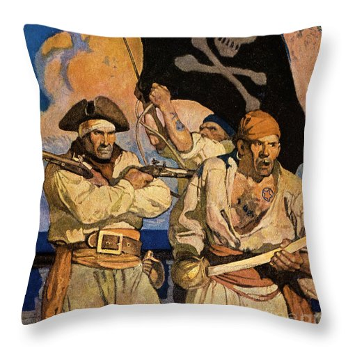18th Century Throw Pillow featuring the photograph Wyeth: Treasure Island by Granger