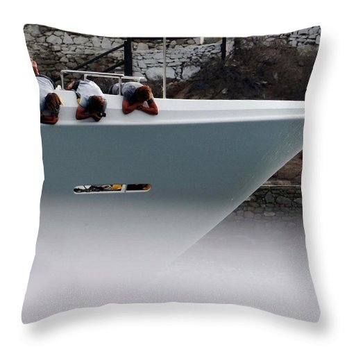 Boats Throw Pillow featuring the photograph Wynken, Blynken And Nod by Coleman Mattingly