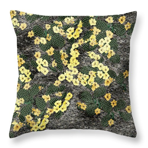 Anne Norskog Throw Pillow featuring the painting Wyoming Cactus by Anne Norskog