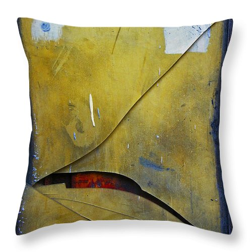 Abstract Throw Pillow featuring the photograph Xalapa Miro by Skip Hunt