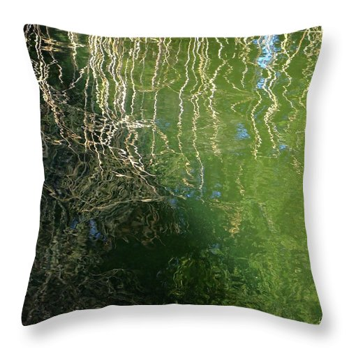 Water Throw Pillow featuring the photograph Yawning Depth by Donna Blackhall