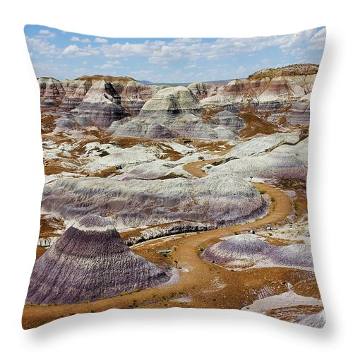 Painted Desert Throw Pillow featuring the photograph Yea Though I Walk by Skip Hunt