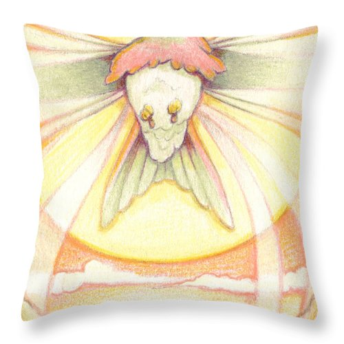 Hummingbird Throw Pillow featuring the drawing Yearning by Amy S Turner