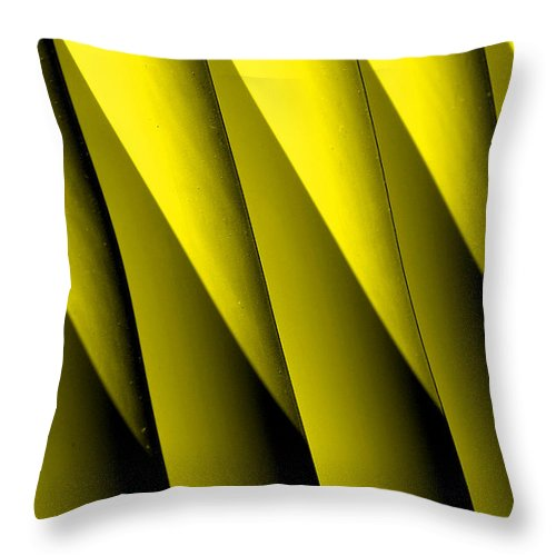 Yellow Borders Throw Pillow featuring the photograph Yellow Borders by Susanne Van Hulst