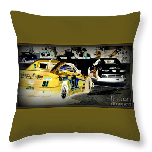 Yellow Throw Pillow featuring the photograph Yellow Car by Anita Goel