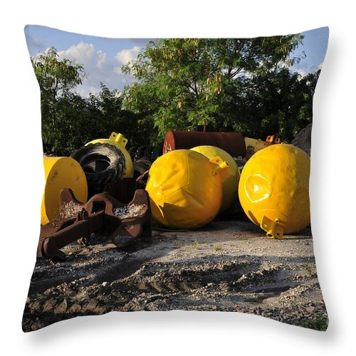 Yellow Throw Pillow featuring the photograph Yellow by David Lee Thompson
