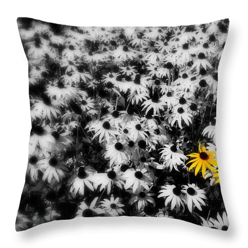 Yellow Throw Pillow featuring the photograph Yellow Flowers by Perry Webster