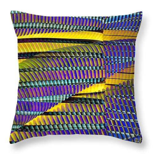 Yellow Jacket Throw Pillow featuring the photograph Yellow Jacket by Ron Bissett