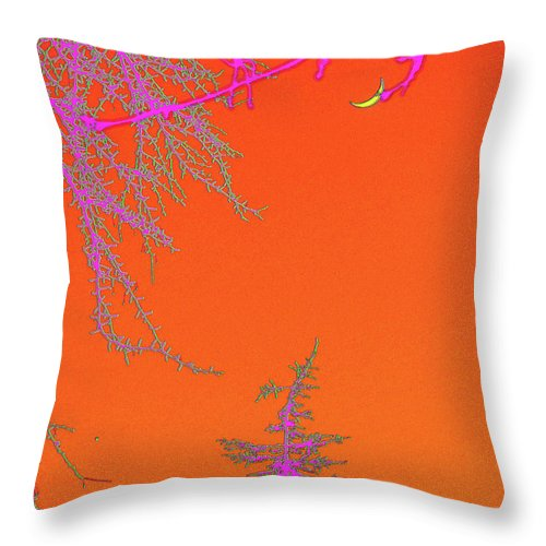 Moon Throw Pillow featuring the digital art Yellow Moon by Marc Dettloff