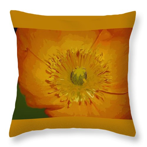 Poppy Throw Pillow featuring the photograph Yellow Poppy by Donna Bentley
