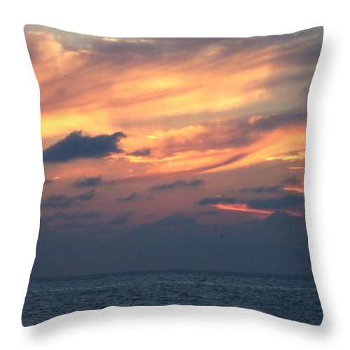 Yellow Throw Pillow featuring the photograph Yellow Sunset by Linda Chambers