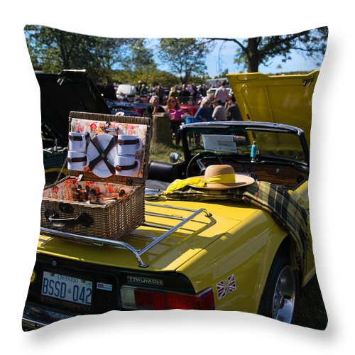Throw Pillow featuring the photograph Yellow Tr6 by Timoke Brown