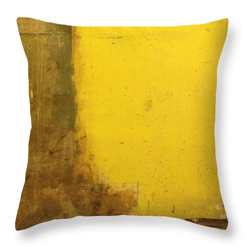 Yellow Throw Pillow featuring the photograph Yellow Wall by Tim Nyberg