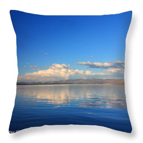 Yellowstone National Park Throw Pillow featuring the photograph Yellowstone Lake by Diane Shirley