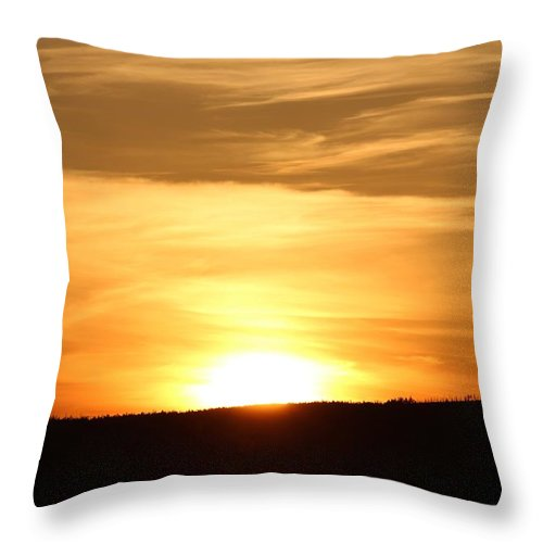 Sunset Throw Pillow featuring the photograph Yellowstone Sunset by John Connor Bray